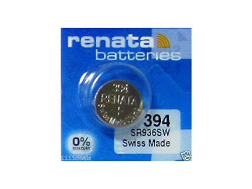 Renata Watch Battery Swiss Made Renata 394 or SR936SW Or AG9 1.5V (5 Batteries, SR 936 SW)