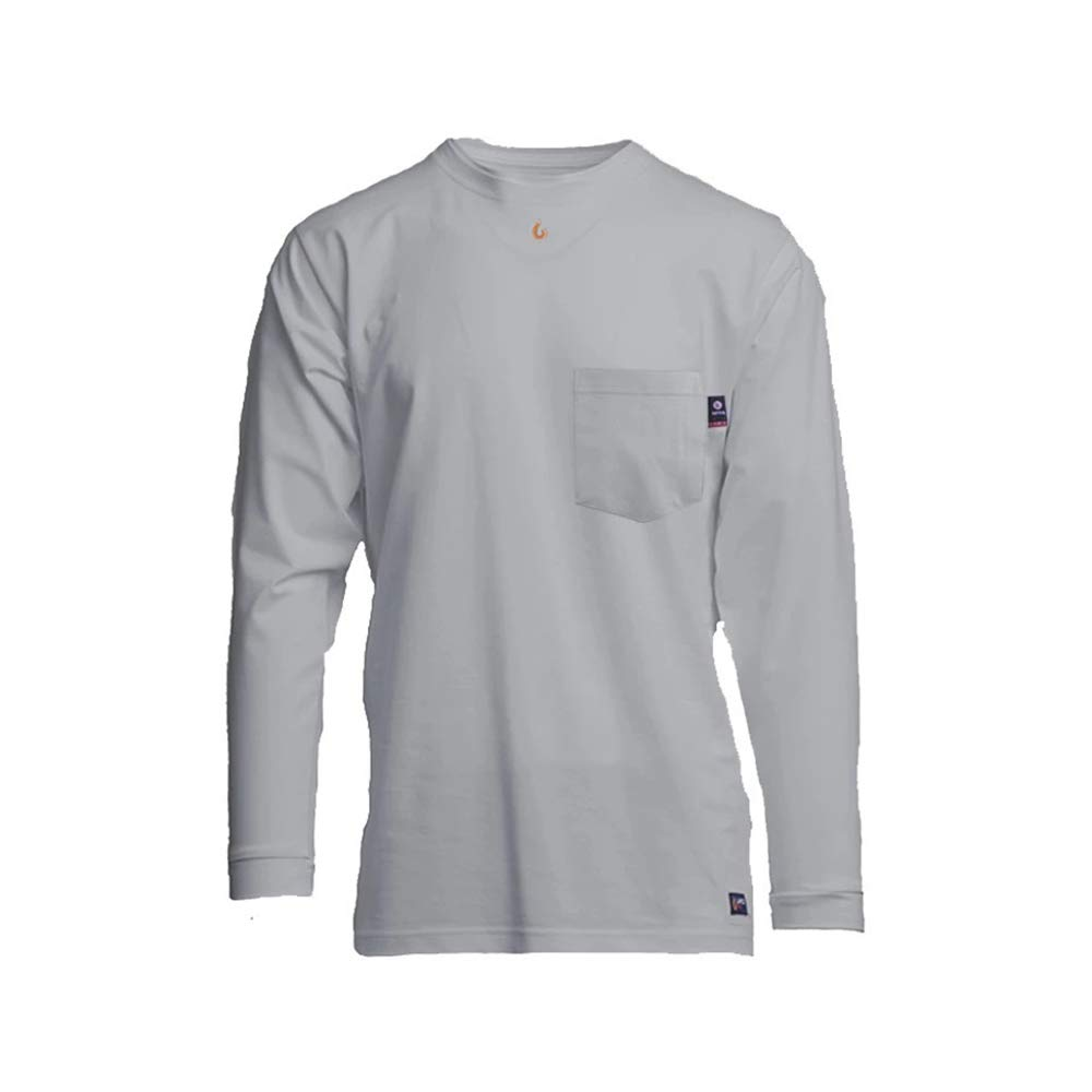 Lapco FR 6oz Flame-Resistant Long Sleeve Reservation Gray We OFFer at cheap prices Pocket T-Shirt M