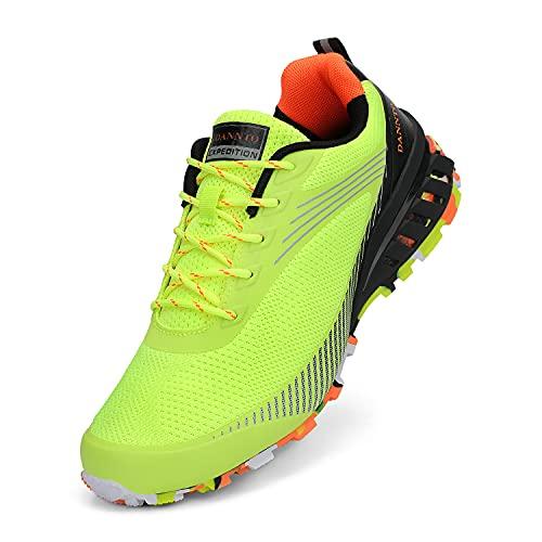 Dannto Men's Trail Running Shoes Outdoor Hiking Sneakers Walking Trekking Cross Training Green,39,Size 7