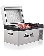 Alpicool C15 Mini-koelbox, 12 V, elektrische campingvriesbox, klein, draagbaar, voor auto, vrachtwagen, boot, camper, met USB-aansluiting