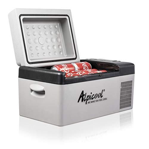 Alpicool C20 20 litros Eléctrica Nevera de Coche portátil Frigoríficos Mini Refrigerador de Coche 12/24V CC congelador del automóvil para Hogar Aire Libre Camping, Viajes