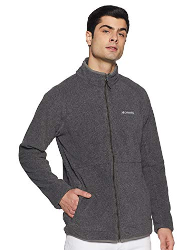 Columbia Men's Basin Trail Fleece Full Zip, Charcoal Heather ,Large