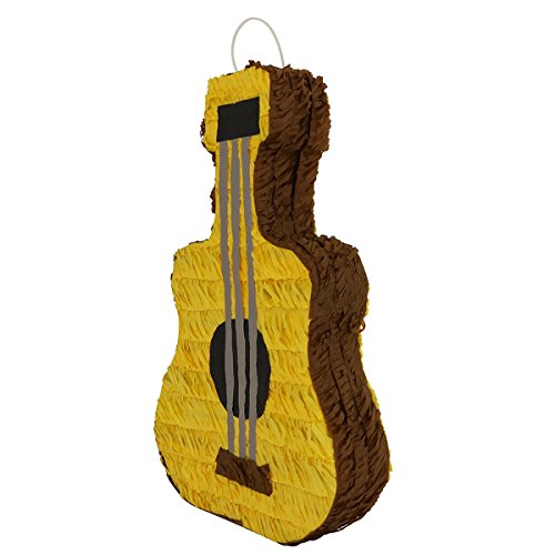 Lytio Guitar Pinata Classic Acoustic Mexican Guitarra Ideal for Parties, Center Piece or Photo Prop, Piñata Game