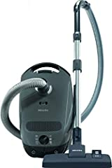This powerful but quiet German-engineered bagged canister vacuum has a combination floor head that is ideal for cleaning hard floors. High suction power – 1,200 W This lightweight and nimble Miele vacuum offers maximum maneuverability both around and...