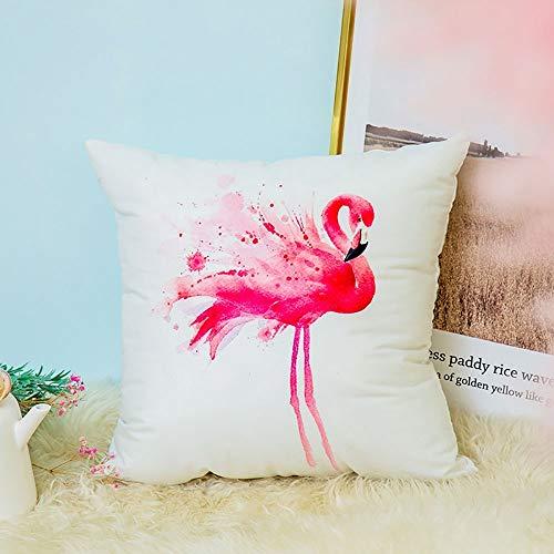 GGFHH Lino Cojines Funda de Cojín Almohada Caso de Decorativo Cojines para Sala de Estar sofá Cama Coche 18'x18' Pulgadas 45x45cm