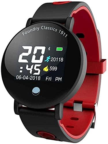 MHPO Fitness Trackers Smart Band Fitness Watch Pulsera Ritmo Cardíaco Presión Arterial Impermeable Recordatorio Tiempo Deportes - A