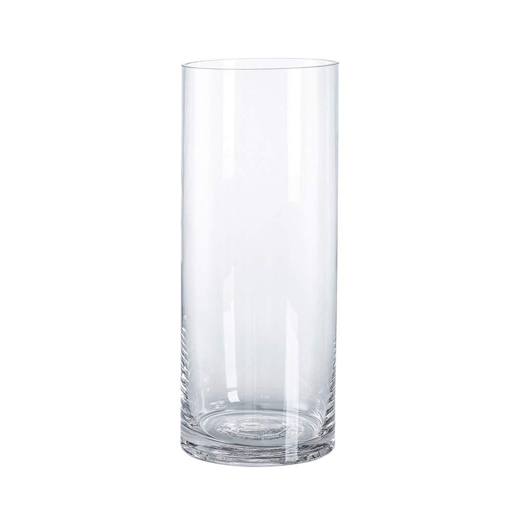 Vase d/écoratif Transparent INNA-Glas Lot 2 x Vase /à Poser au Sol Roman Rond Cylindre 30cm Vase /à Fleurs /Ø25cm