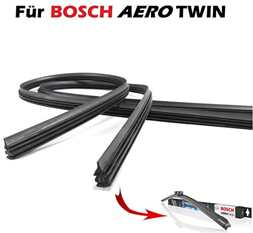 INION® 2X Wischergummi Scheibenwischer Gummis Ersatz für Bosch Aerotwin Scheibenwischer (AM467S, 3397007467)