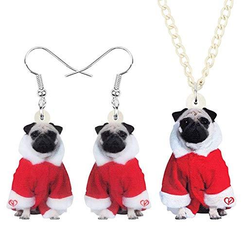 Sistemas De La Joyería De Acrílico For Perros Navidad del Traje Animal...