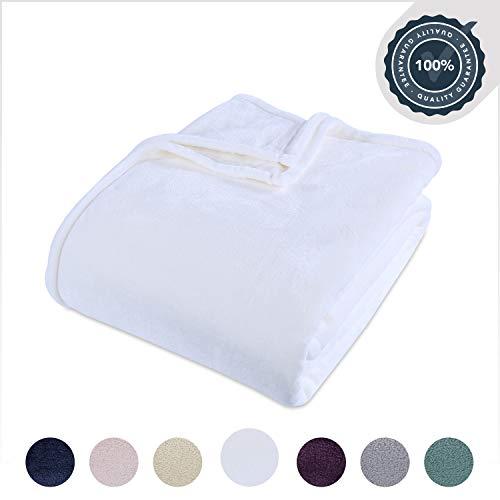Berkshire Blanket VelvetLoft Ultra Soft Luxury Plush Blanket, White, Full/Queen
