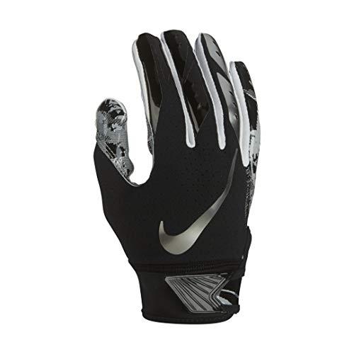 Boy's Nike Vapor Jet 5.0 Football Glove Black/Chrome Size Large