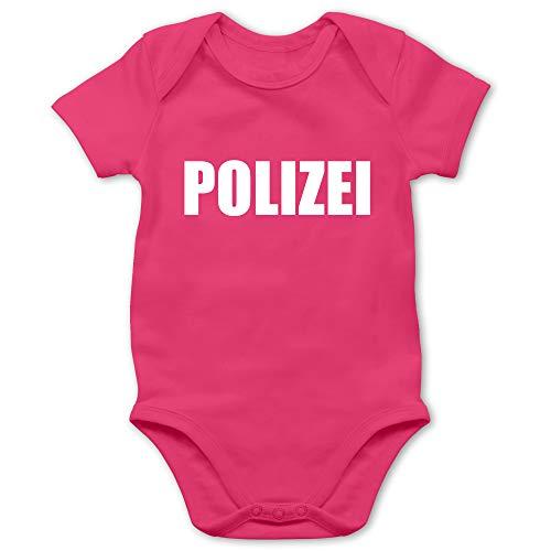 Shirtracer Karneval und Fasching Baby - Polizei Karneval Kostüm - 1/3 Monate - Fuchsia - Coole Baby Strampler - BZ10 - Baby Body Kurzarm für Jungen und Mädchen
