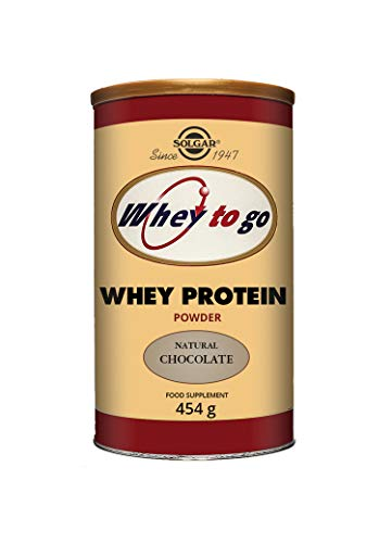 Solgar Whey To Go Natural Chocolate Flavour Protein Powder - 454 g