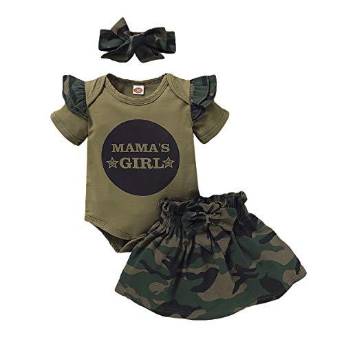 2 piezas de ropa para bebés y niños pequeños y niñas, camiseta de camuflaje, pantalones y suelos. D#2 3-6 Meses