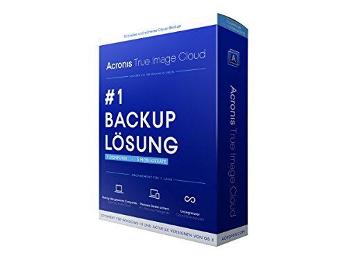 Acronis True Image Cloud (1 PC, 3 Devices)