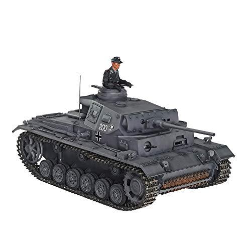 HOOBEN 1/10 Panzer III J Mittlerer Panzer Pz.Kpfw. III AUSF. J-1 RTR RC Tanks Einschließen IR,Rauch,LICHT,TON