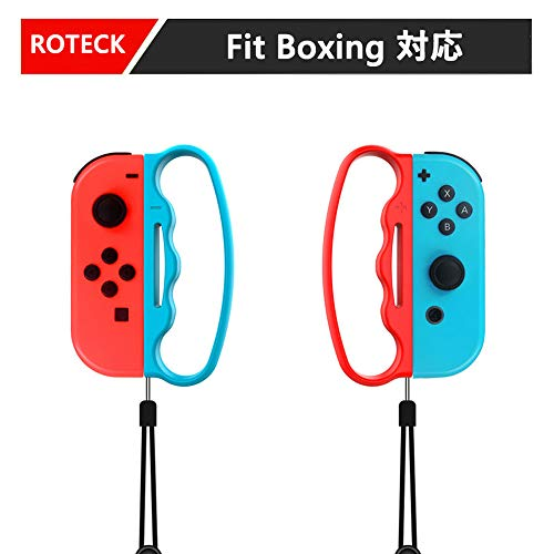ROTECK fit boxing グリップ フィットボクシング switch ハンドル ボクシングゲームグリップ For Switch Joy-Con ニンテンドー スイッチ ジョイコン コントローラー 用 2個 セット (fit boxing)