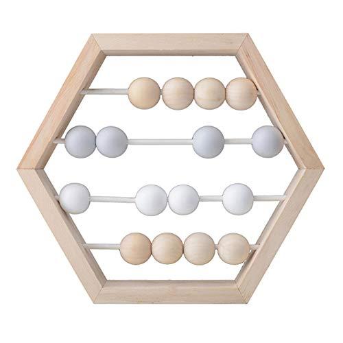 Abacus Pädagogische Spielzeug neue nordischen Stil natürlichen Holz Abakus mit Perlen Handwerk C