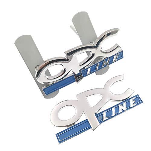 NMDNNJ 2 uds Coche 3D Metal Parrilla Delantera Capucha Pegatina Estilo de Coche para Opel OPC Line Zafira b Corsa d Insignia Mokka Regal Astra g