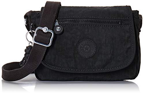 Kipling Women's Sabian Mini Crossbody, Lightweight Everyday Purse, Nylon Shoulder Bag, Black Noir