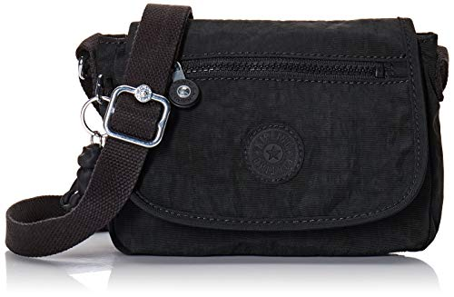 Kipling Sabian Mini Crossbody Bag-Small Cross Body Purse, Black Noir