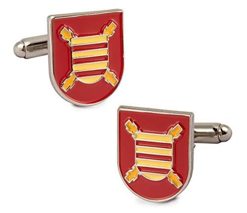 Gemelolandia Manschettenknöpfe für Hemd mit Wappen des Dritten großen Captain Primera der Legion