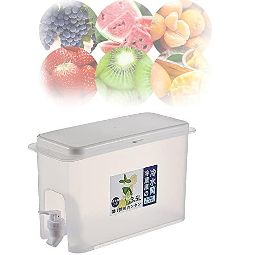 HGFG Dispensador de jarra de agua para nevera, Dispensador de bebidas con espita para refrigerador, Jarra de agua 3.5L con grifo jarra de jugo de limón, Refrigeradores domésticos Calderas de agua