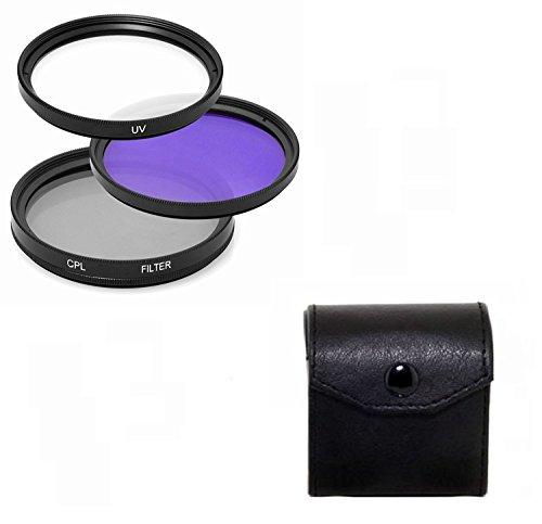 Maxsimafoto - 40.5mm Filter Set, UV, CPL & FLD für Samsung 20-50mm f3.5-5.6 ED, NX5, NX10, NX11, NX100, NX200 Objektiv