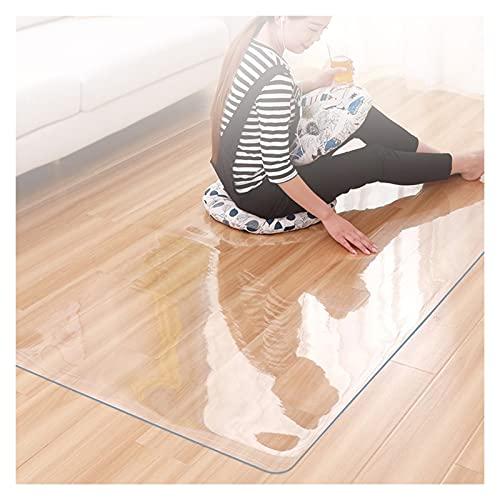 ALGXYQ Silla Transparente Estera Tabla Protección de Suelos Impermeable Vidrio Blando Alfombrilla Protectora Mantel PVC Resistencia Al Rayado, Tamaño Personalizado