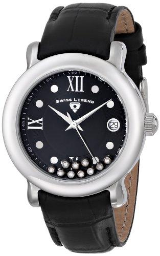 SWISS LEGEND 22388-01 - Orologio da donna, cinturino in pelle, colore: nero