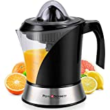 Pohl+Schmitt Deco-Line Citrus Juicer Machine Extractor - Large Capacity 34oz (1L) Easy-Clean, Featuring Pulp Control Technology