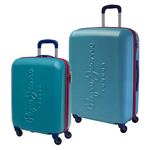 Pepe Jeans 7498954 Tricolor Juego de Maletas, 88.83 Litros, Color Azul
