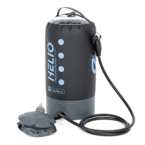 Nemo Helio Portable Pressure Shower with Foot Pump, Periwinkle