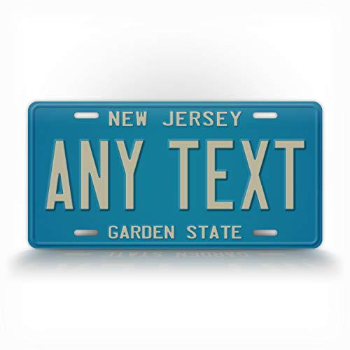SignsAndTagsOnline Custom New Jersey 1979-1985 License Plate Any Text Personalized NJ Metal Auto Tag Aluminum Garden State