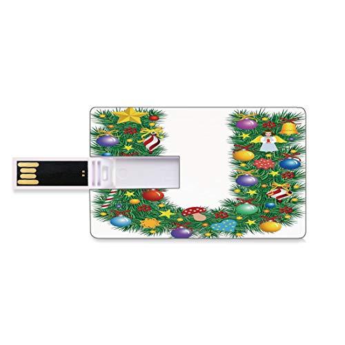 64GB Chiavette USB Flash Lettera U Archiviazione su Memory Stick del disco U della chiave di affari della forma della carta di credito Figura di angelo dei funghi dei bastoncini di zucchero sull'albe