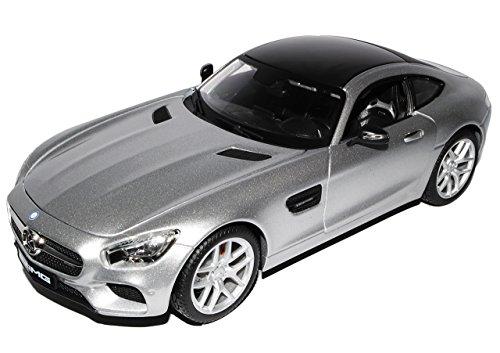Maisto Mercedes-Benz AMG GT S Coupe Silber Ab 2014 1/18 Modell Auto mit individiuellem Wunschkennzeichen