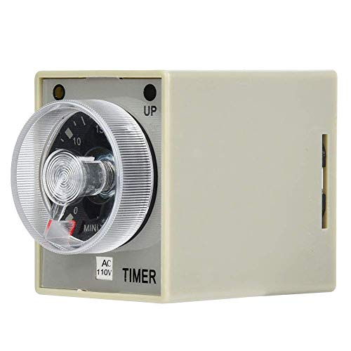 Relé de tiempo electrónico Temporizador de retardo de liberación de 8 pines Montaje en riel DIN de 35 mm Rango de retardo de 30 minutos (AC110V) Blanco