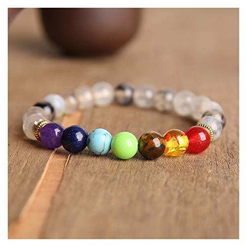 HUIJUNWENTI Prayer Beads Bodhi Bracelets Men Meditation Mala Crystal Beads Bracelets Jewelry Prayer Chakras Tibetan Bracelet (Color : 23cm, Size : 17)