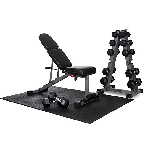 Review XMark's Get Buff at Home Package includes a XMark Flat Incline Decline Ab Bench, a XMark Ve...