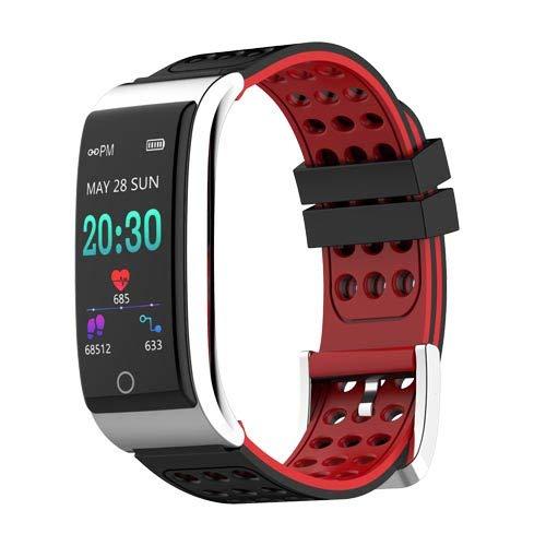 Zeerkeer Smartwatch, Fitness Grabación de Pantalla en Color Pulsera de ECG, Adhesivo de Dos Colores sin Correa, Aspecto metálico, electrodos médicos, Familia, Datos en Tiempo Real para Mujeres