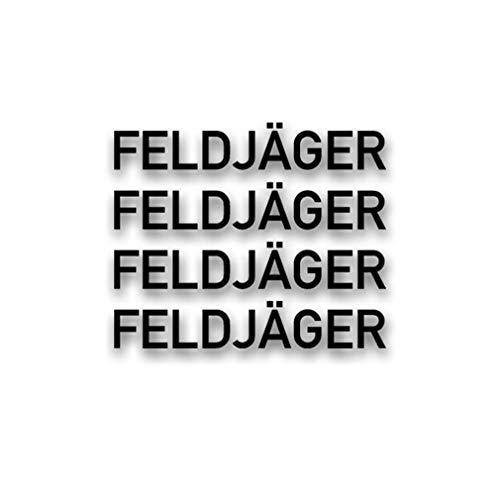 Aufkleber/Sticker Feldjäger Schriftzug Militär Polizei MP BW 4X 2x14cm A2890