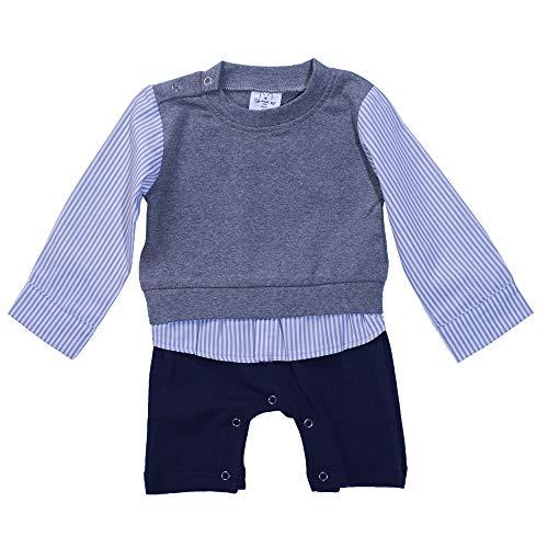 no branded Anke Baby Girsl Ruffle Long Sleeve Dress Stripe School Party Dress Grey