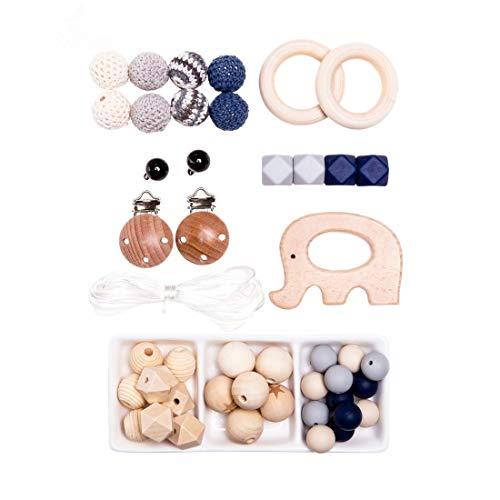 Mamimami Home DIY Baby Kinderkrankheiten Halskette Für Mama Silikon Perlen Handgemachte Warenkorb Kette Holz Elefanten Glocke Baby Shower Geschenk