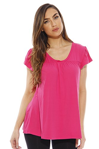 6072-S Just Love Women Pajama Tops - Mix & Match PJs - Sleepwear,Plum Top,Small