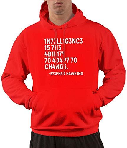 Sudaderas con capucha para hombre Inteligencia es la capacidad de adaptarse a cambiar camisas con capucha con bolsillo delantero, pequeño
