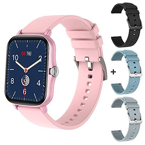 XYJ P8 Plus 1.69 Pollici 2021 Smart Watch Men Touch Touch Touch Tracker IP67 Impermeabile Femmina GTS 2 SmartWatch per Xiaomi Telefono Cellulare, (Colore: Nero con Cinturino)