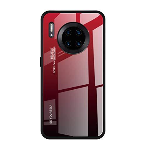 HAOYE Hülle für Xiaomi Pocophone F2 Pro Hülle, Farbverlauf-Glas Back Cover Handyhülle, Ultra Thin Tasche Cover TPU Silikon Grenze Shock Absorption Stoßfest Hülle Schutzhülle(5)