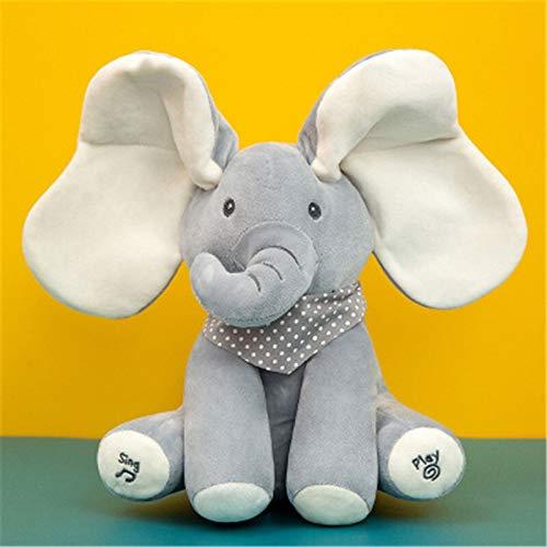 J-MWJ Música eléctrica de escondite y búsqueda de Elefantes con Juguetes de Peluche J-MWJ ( Color : A8 30cm )