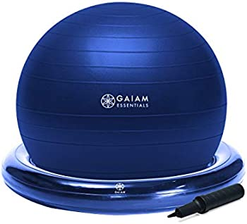 Gaiam Essentials Balance Ball & Base Kit with Air Pump