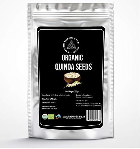 Organic Quinoa Seed by Naturevibe Organic (1 Kg) | Gluten-Free | Chenopodium Quinoa | Rich in Protein, Iron & Fiber